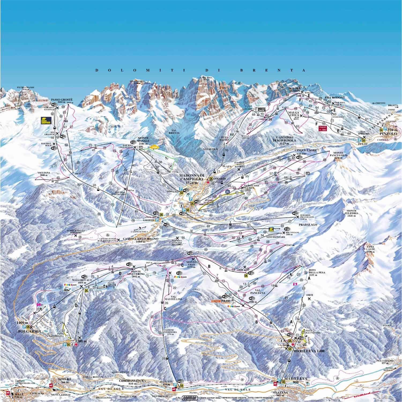 Skiarea Campiglio Map