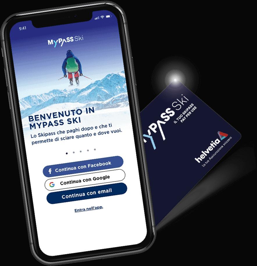 MyPass Ski app e card